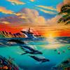 """ HUMPBACKS IN PARADISE "" 27"" X 39"" LIMITED EDITION LITHOGRAPH"