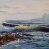 """ LIVING SEA ""                    17"" X 34""      OIL ON CANVAS       SOLD"